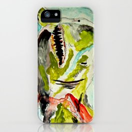 Shark Week - Attacked and bleeding iPhone Case