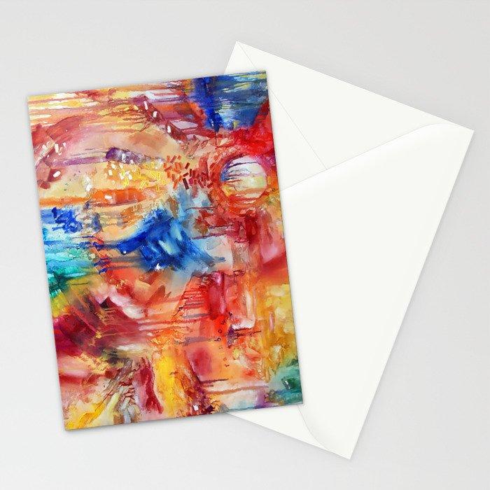 She Made Rainbows by Nadia J Art Stationery Cards