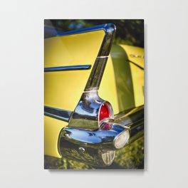 Classic Chevrolet Automobile Tail Fin Metal Print