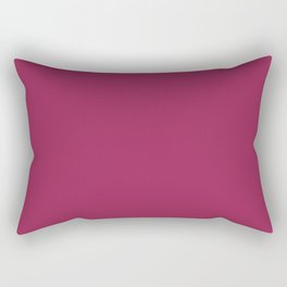 SANGRIA Red Wine solid color Rectangular Pillow