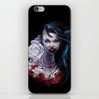 """marceline iPhone & iPod Skins featuring Marceline  """"shades of red"""" by Tyson McAdoo"""