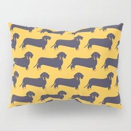 Trendy Dachshund Illustration Pattern Pillow Sham