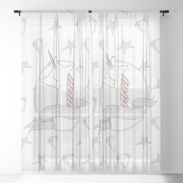 Be a Unicorn Sheer Curtain
