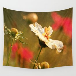 Flowers in the Rain Wall Tapestry