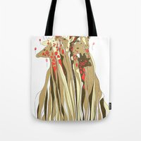 tangled Tote Bags featuring Tangled by Julia Kisselmann
