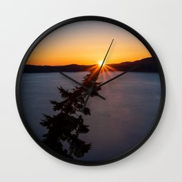Sunset Tree Top Wall Clock