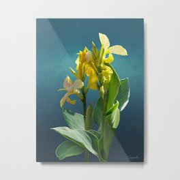 Spade's Yellow Canna Lily Metal Print