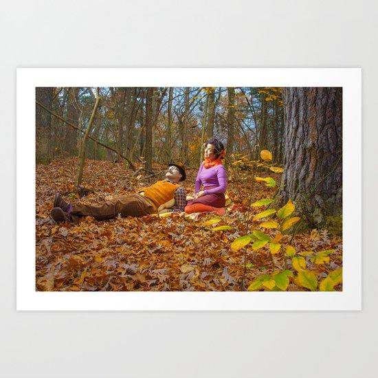October Picnic Art Print