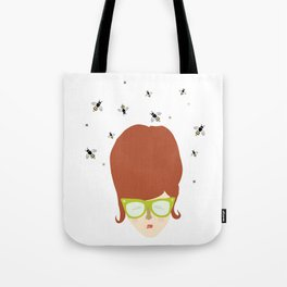 Retro lady with a beehive hairdo Tote Bag