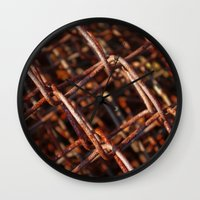 the wire Wall Clocks featuring wire by Seed Margarita