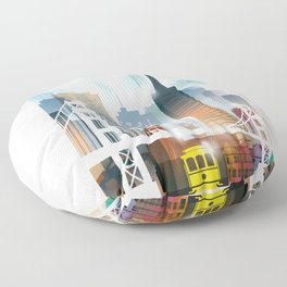 City of San Francisco painting Floor Pillow