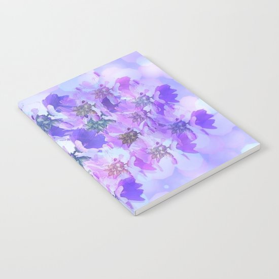 Painterly Glowing Floral Abstract Notebook