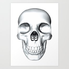 illustration of a human skull Art Print