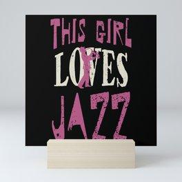 Jazz Music Girl Mini Art Print