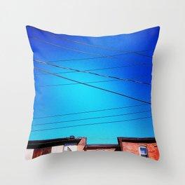 Skywires Throw Pillow