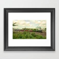 Flying Scotsman at Bristol Temple Meads Framed Art Print