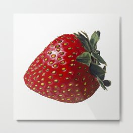 A Strawberry, Out of the Universe Metal Print