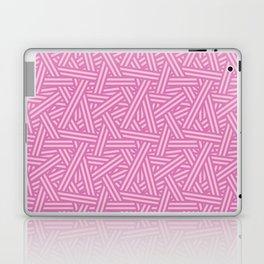 Interweaving lines in purple Laptop & iPad Skin