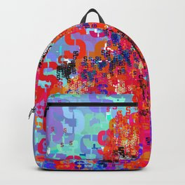 Spider Type Man - Abstract Pop Art Comic Backpack