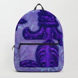 Purple Fleur de Lis Backpack
