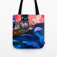 house md Tote Bags featuring Ahab, MD by Birdcap