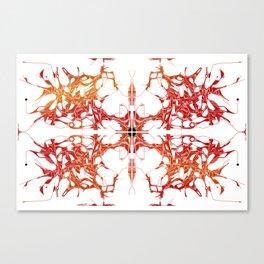 Double Tree Burning Canvas Print