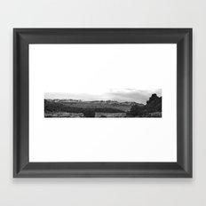 La Sal Mountains from Hidden Valley b/w Framed Art Print