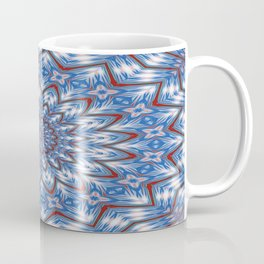 Seventeen Pointed Star In Red White and Blue Coffee Mug