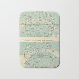 Vintage Star Constellations Map (1895) Bath Mat