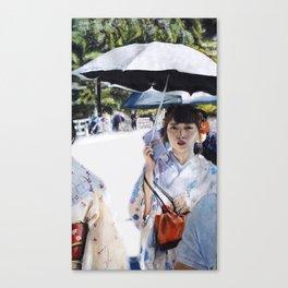 Kyoto   Chalk pastel Canvas Print