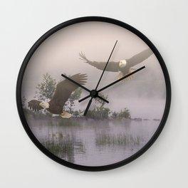 Eagles at Dawn Wall Clock