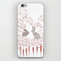 rabbits iPhone & iPod Skins featuring Rabbits by Fay's Studio