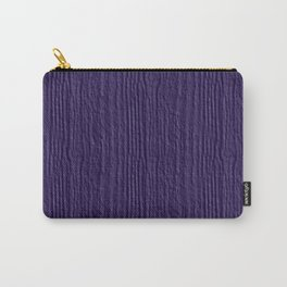 Gentian Violet Wood Grain Color Accent Carry-All Pouch