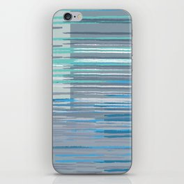 Blue Lines iPhone Skin