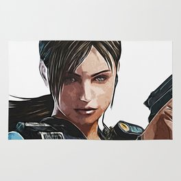 JILL Valentine - Armed and Beautiful Rug