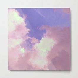 Florida: Cumulus Skies 1 (Purple) Metal Print