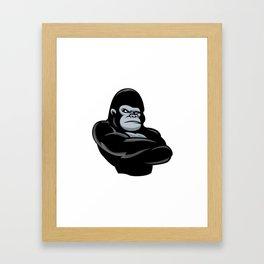 angry  gorilla.black gorilla Framed Art Print