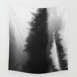 What Lies Down Hidden Rain Drenched Paths Wall Tapestry