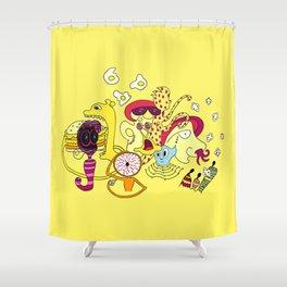 Freak Party Version 3 Shower Curtain