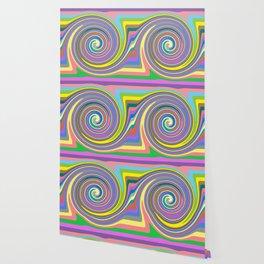 Rainbow swirl pattern Wallpaper