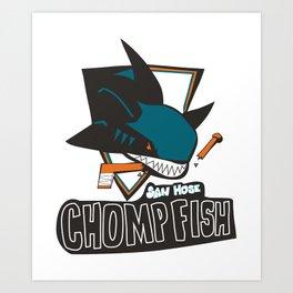 san hose chomp fish Art Print
