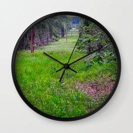 Deer in a Field Wall Clock
