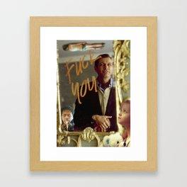 Fuck You, Jeff Goldblum Framed Art Print