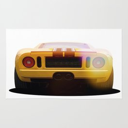 illustration of a classic GT 40 Rug