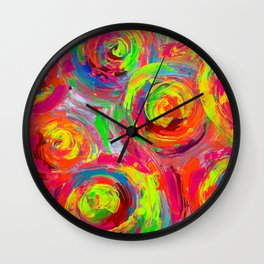 Abstract Relief Impasto Textured Modern Abstract Paintig - Detail from Gypsy Dance 11 Wall Clock