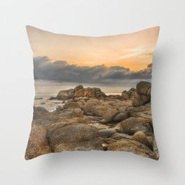 Stones, Ocean and Heaven Throw Pillow
