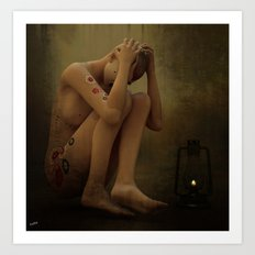 Trapped in a Mind Canvas Art Print