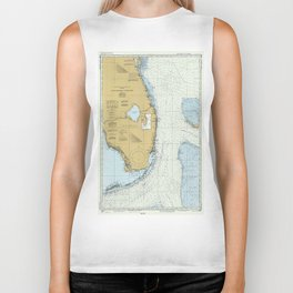 Florida Atlantic Coast Map (1982) Biker Tank