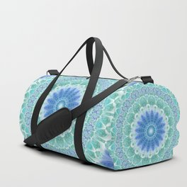 Blue and Turquoise Mandala Duffle Bag