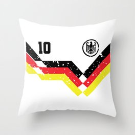 Germany Flag Eagle 10 Soccer Gift Throw Pillow